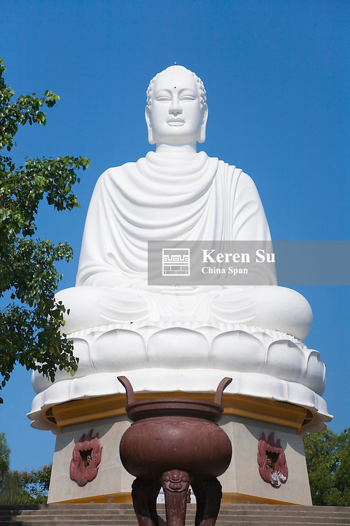 Buddha Sculpture at Long Son Pagoda.