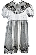 a little children white dress with embroidery