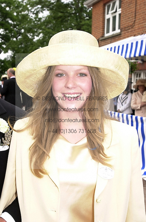 MISS OLIVIA LLEWELLYN, daughter of Sir David Llewellyn,<br />  at Royal Ascot on 20th June 2000.OFN53<br /> &copy; Desmond O&rsquo;Neill Features:- 020 8971 9600<br />    10 Victoria Mews, London.  SW18 3PY <br /> www.donfeatures.com   photos@donfeatures.com<br /> MINIMUM REPRODUCTION FEE AS AGREED.<br /> PHOTOGRAPH BY DOMINIC O'NEILL