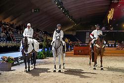 Team Joli Lodger, Helsen Rudi, Pieters Peter, Lambrecht Maxime<br /> Vlaanderens Kerstjumping - Memorial Eric Wauters - Mechelen 2018<br /> © Hippo Foto - Dirk Caremans<br /> 27/12/2018