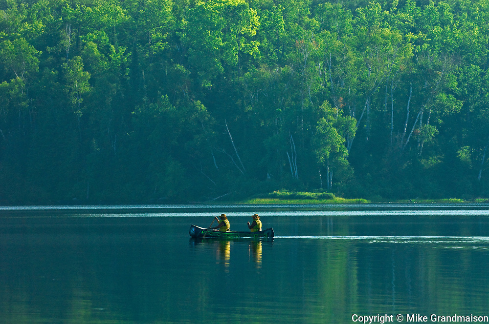 Canoeing on northern lake<br />