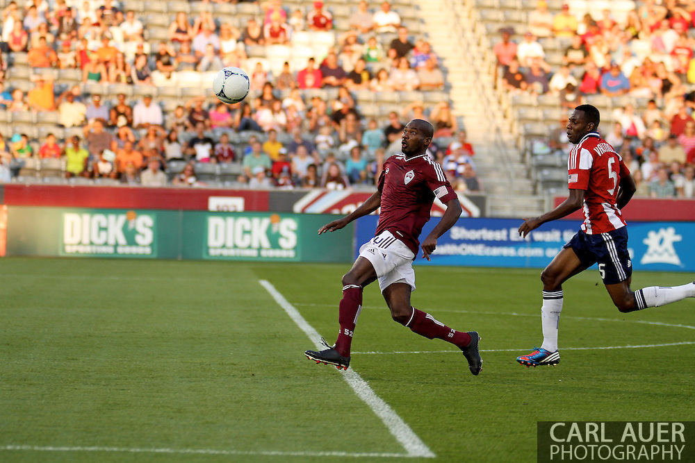 August 18th, 2012: Colorado Rapids forward Omar Cummings (14) breaks for the ball in the first half against Chivas USA at Dick's Sporting Goods Park