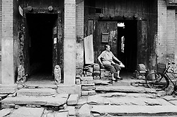 Entrance to old houses in a Beijing hutong