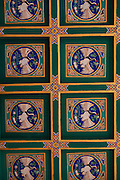 Ornate decorative ceiling at Beihai Park in Beijing, China