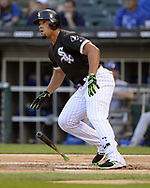 CHICAGO - JULY 13:  Jose Abreu #79 of the Chicago White Sox bats against the Kansas City Royals on July 13, 2018 at Guaranteed Rate Field in Chicago, Illinois.  (Photo by Ron Vesely)  Subject: Jose Abreu