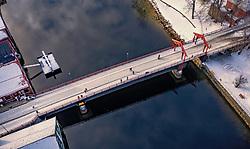 THEMENBILD - die alte Stadtbrücke (Gamle Bybro), aufgenommen am 14. Maerz 2019 in Trondheim, Norwegen // the old city bridge (Gamle Bybro), Trondheim, Norway on 2018/03/14. EXPA Pictures © 2019, PhotoCredit: EXPA/ JFK