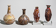 Marbled Glass perfume bottles Roman period 1st century CE