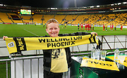 A young fan at his 1st Phoenix match during the Round 22 A-League football match - Wellington Phoenix V Adelaide United at Westpac Stadium, Wellington. Saturday 5th March 2016. Copyright Photo.: Grant Down / www.photosport.nz