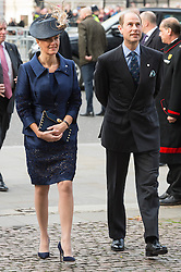 © Licensed to London News Pictures. 24/11/2016. COUNTESS OF WESSEX and PRINCE EDWARD attend a Service of Thanksgiving at Westminster Abbey to celebrate the Diamond Anniversary of The Duke of Edinburgh's Award (DofE). London, UK. Photo credit: Ray Tang/LNP
