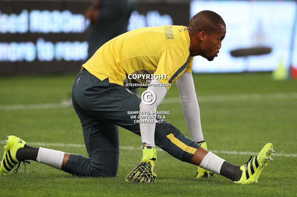 Brighton Mhlongo G/K of South Africa during the international friendly match between South Africa ( Bafana Bafana ) and Ghana at the Moses Mabhida stadium in Durban, South Africa on the 11th October 2016<br /> <br /> Photo by:   Steve Haag / Real Time Images