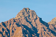 Barren mountain peak at Pfunds, a municipality in the district of Landeck in the Austrian state of Tyrol
