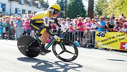 06-05-2016 NED: Giro d Italia 2016 Etappe 1, Apeldoorn<br /> De 99ste editie van de Ronde van Italië. De eerste etappe, een individuele tijdrit van 9,8 kilometer / Primoz Roglic SLO - Team Lotto Jumbo