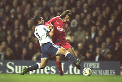 London, England - Monday, December 2, 1996: Liverpool's Patrik Berger in action during the 2-0 Premier League victory over Tottenham Hotspur at White Hart Lane. (Pic by David Rawcliffe/Propaganda)