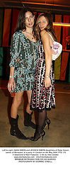Left to right, ZARA SIMON and JESSICA SIMON daughters of Peter Simon owner of Monsoon, at a party in London on 4th May 2004.PTS 170