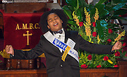 Amari Venzor of Cornelius Elementary School performs during the Martin Luther King, Jr. Oratory Competition at Antioch Missionary Baptist Church, January 17, 2014.