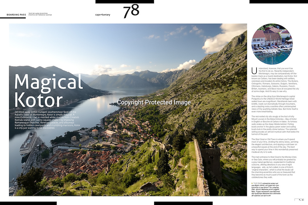 cape+cantary Magazine feature on Kotor, Montenegro.