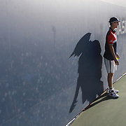2017 U.S. Open Tennis Tournament - DAY TWELVE. A ball boy working the outer courts in the late afternoon during the US Open Tennis Tournament at the USTA Billie Jean King National Tennis Center on September 08, 2017 in Flushing, Queens, New York City.  (Photo by Tim Clayton/Corbis via Getty Images)