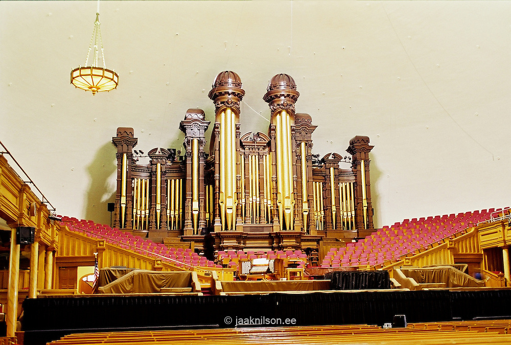 Mormon Tabernacle Organ in Salt Lake City, Utah, USA