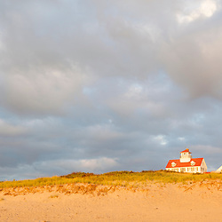 Former life saving station at Coast Guard Beach in the Cape Cod National Seashore in Eastham, Massachusetts.