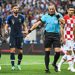 Referee Nestor Pitana during the World Cup Final match between France and Croatia at Luzhniki Stadium on July 15, 2018 in Moscow, Russia. (Photo by Anthony Dibon/Icon Sport)