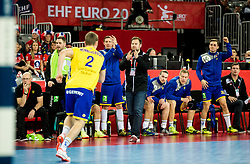 Kristjan Andresson, head coach of Sweden during handball match between National teams of Sweden and Norway on Day 7 in Main Round of Men's EHF EURO 2018, on January 24, 2018 in Arena Zagreb, Zagreb, Croatia.  Photo by Vid Ponikvar / Sportida