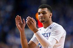Kentucky guard Jamal Murray encourages his team in the second half.<br /> <br /> The University of Kentucky hosted the University of Georgia, Tuesday, Feb. 09, 2016 at Rupp Arena in Lexington .