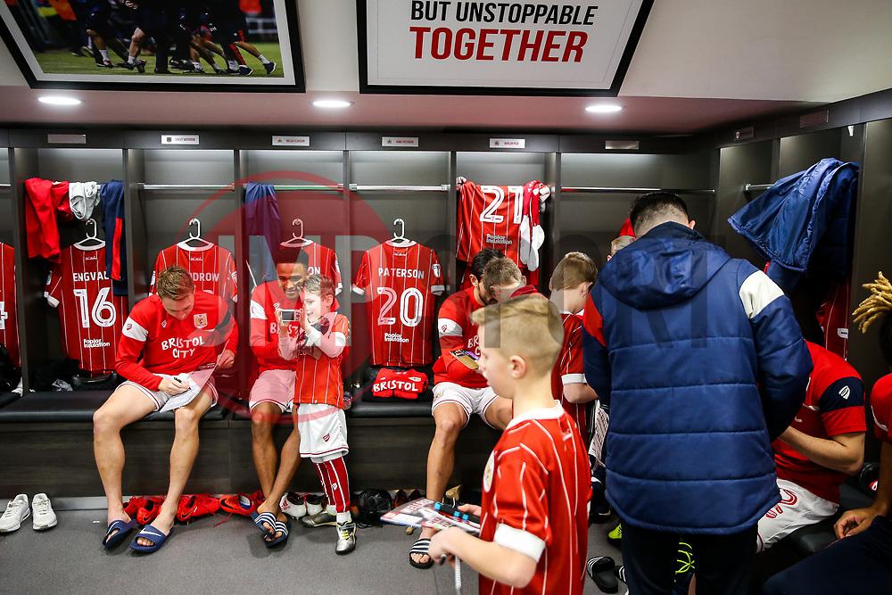 Niclas Eliasson of Bristol City looks on during the Mascot dressing room visit - Rogan/JMP - 27/01/2018 - Ashton Gate Stadium - Bristol, England - Bristol City v Queens Park Rangers - Sky Bet Championship.