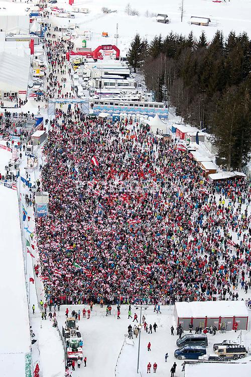 15.01.2012, Kulm, Bad Mitterndorf, AUT, FIS Ski Flug Weltcup, erster Durchgang, im Bild DEUTSCH (AUT) // ENGLISH from Austria during the first round of FIS Ski Flying World Cup at the 'Kulm', Bad Mitterndorf, Austria on 2012/01/15, EXPA Pictures © 2012, PhotoCredit: EXPA/ Erwin Scheriau