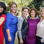 NLD/Amsterdam/20150820 - Najaarspresentatie SBS 2015, Sandra Schuurhof, Selma van Dijk, Mirella Markus, Evelien de Bruijn en Gallyon van Vessem