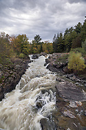 The White River (Riviere Blanche) at Dufresne Falls in Gatineau, Québec, Canada.