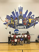 A lucky group of Codwell ES third-graders attended the Final Four press conference at Morefield Boys & Girls Club, which was totally renovated, thanks to the NCAA and Lowe's.
