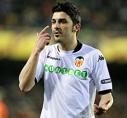 11.03.2010, Estadio Mestalla, Valencia, ESP, UEFA Europa League, FC Valencia vs Werder Bremen, im Bild David Villa ( Valencia #07 ), EXPA Pictures © 2010, PhotoCredit: EXPA/ Alterphotos/  Miguel Angel Acero / SPORTIDA PHOTO AGENCY