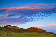 Sunset clouds over the Ekalaka Hills in the Custer National Forest, Montana, USA