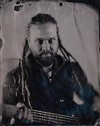 Tintype images of the band King Porter Stomp taken in Brighton, December 2016