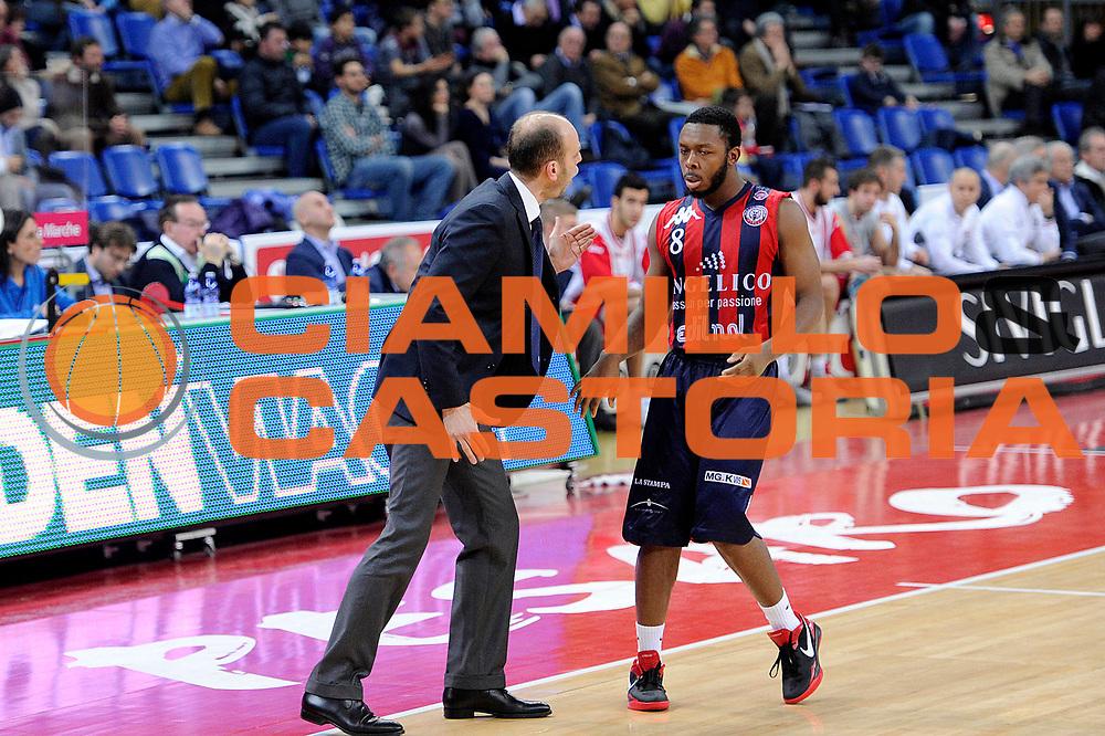 DESCRIZIONE : Pesaro Lega A 2011-12 Scavolini Siviglia Pesaro Angelico Biella<br /> GIOCATORE : Massimo Cancellieri Jacob Pullen<br /> CATEGORIA : coach<br /> SQUADRA : Angelico Biella<br /> EVENTO : Campionato Lega A 2011-2012<br /> GARA : Scavolini Siviglia Pesaro Angelico Biella<br /> DATA : 21/01/2012<br /> SPORT : Pallacanestro<br /> AUTORE : Agenzia Ciamillo-Castoria/C.De Massis<br /> Galleria : Lega Basket A 2011-2012<br /> Fotonotizia : Pesaro Lega A 2011-12 Scavolini Siviglia Pesaro Angelico Biella<br /> Predefinita :
