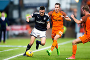 Dundee defender Kevin Holt (#3) takes on Dundee United midfielder Jordie Briels (#20) during the Betfred Scottish Cup match between Dundee and Dundee United at Dens Park, Dundee, Scotland on 9 August 2017. Photo by Craig Doyle.