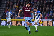 Robert Snodgrass of West Ham United (11) in action during the Premier League match between Huddersfield Town and West Ham United at the John Smiths Stadium, Huddersfield, England on 10 November 2018.