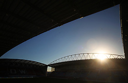 General view of the DW Stadium before the match - Mandatory by-line: Jack Phillips/JMP - 02/01/2017 - FOOTBALL - DW Stadium - Wigan, England - Wigan Athletic v Huddersfield Town - Football League Championship