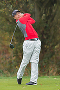 Wang Jeung-hun of South Korea  tees off during the British Masters 2018 at Walton Heath Golf Course, Walton On the Hill, Surrey on 14 October 2018. Picture by Martin Cole.