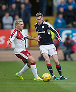 Dundee's Kevin Holt and Rangers' Martyn Waghorn - Dundee v Rangers in the Ladbrokes Scottish Premiership at Dens Park, Dundee.Photo: David Young<br /> <br />  - © David Young - www.davidyoungphoto.co.uk - email: davidyoungphoto@gmail.com