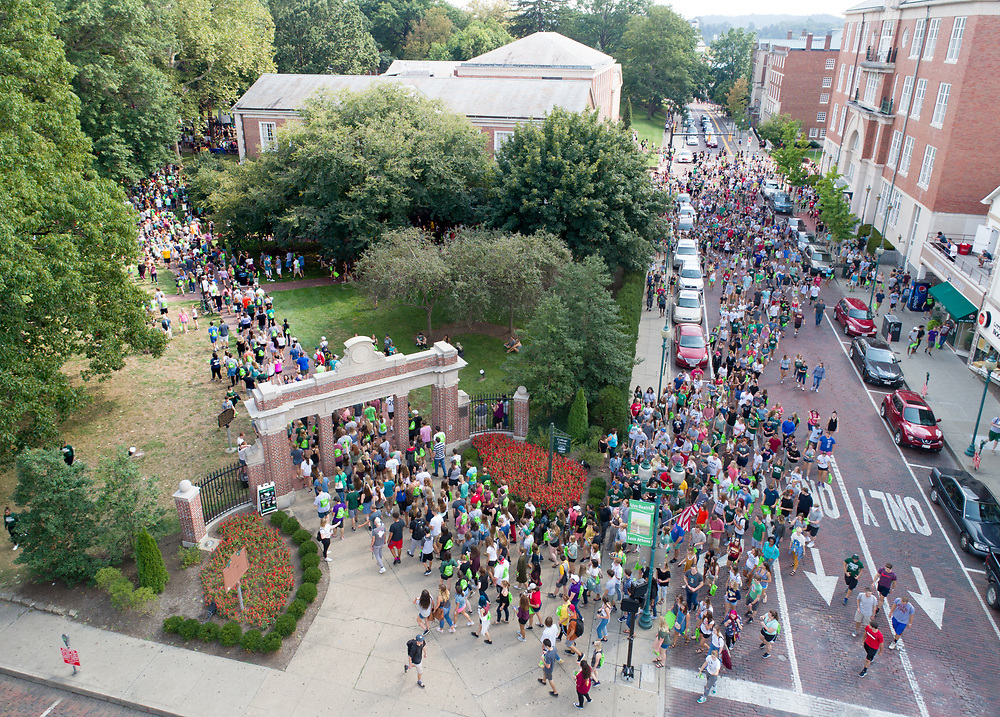 First-Year Students enter the Campus Involvement Fair. Photo by Ben SIegel