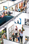 Aerial view of crowd at Art Basel Miami Beach 2006 main exhibition hall