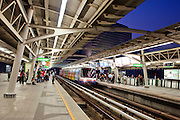 Mar. 19, 2009 -- BANGKOK, THAILAND: The Asoke Skytrain Station in Bangkok, Thailand. Photo by Jack Kurtz