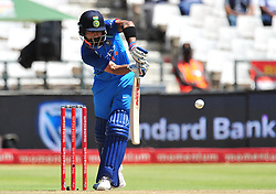 Cape Town-180207 Captain  of India cricket Vitrat Kohli  plays a shot on  a fast ball  from Chris Morris  in a ODI game at Newlands against South Africa.photograph:Phando Jikelo/African News Agency(ANA)