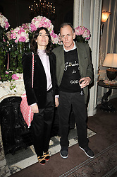 BELLA FREUD and her husband JAMES FOX at a party to celebrate Penguin's reissue of Nancy Mitford's 'Wigs on The Green' hosted by Tatler at Claridge's, Brook Street, London on 10th March 2010.