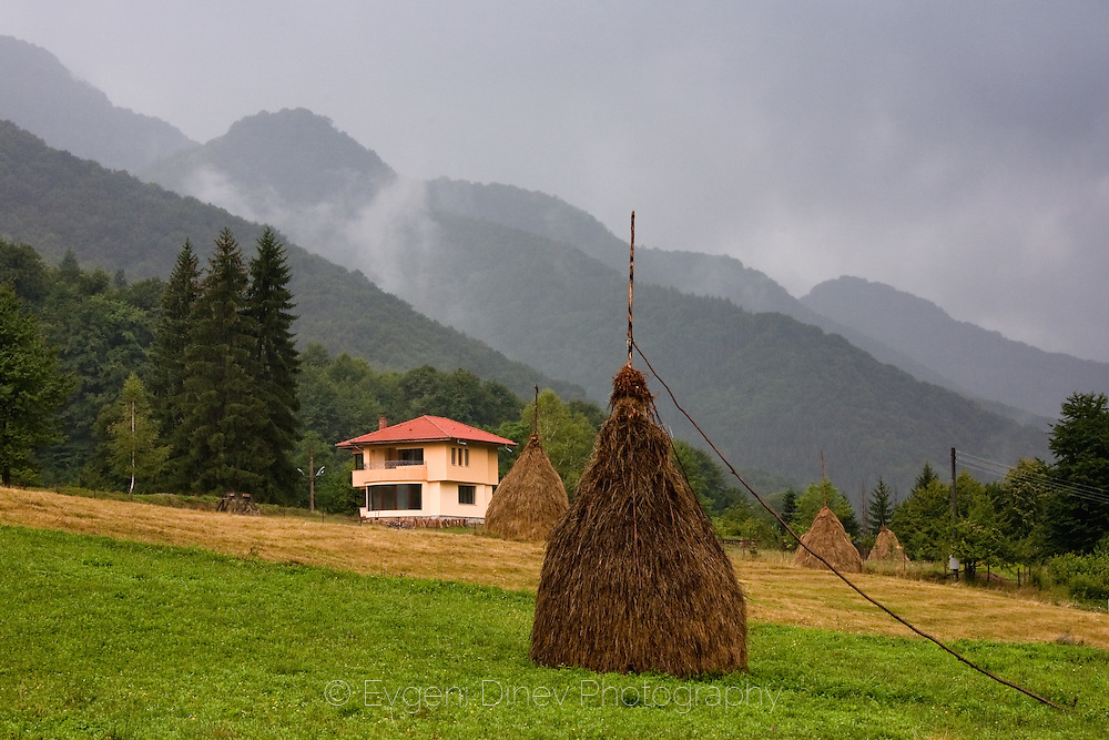 Village of Ribaritsa in rainy weather
