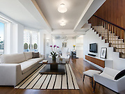 Mar 21, 2016 - New York, New York, U.S. - Rolling Stone's guitarist Keith Richards has officially put his amazing house on the market for a whopping $12,230,000 USD. Located on Fifth Avenue, New York City, this 4-bedroom duplex penthouse sits high above Fifth Avenue's Gold Coast.<br /> Originally a luxury hotel, built in 1929, One Fifth Avenue was the work of lead design architect Harvey Wiley Corbett. The building features a full-time doorman, resident super, laundry facilities and storage. Renovated in 2011 by infamous architect, Joe Serrins, this stunning penthouse results in contemporary design that is both distinctive and highly functional. The main level boasts 47 feet of living, dining and entertainment space with open views over historic Greenwich Village and the Manhattan skyline.<br /> A large sliding glass window in the modern sun-filled kitchen and dining area allows for an open, indoor/outdoor experience with a south-facing terrace.<br /> The master bedroom suits has two spacious walk-in closets and a spa-like bathroom. An open staircase with a leather wrapped bronze handrail leads to the upper level with two winged bedrooms, both of which have en-suite bathrooms. Another little gem sitting in between these bedrooms is a large sitting area with private city views.<br /> The house has Lutron lighting, central AC with an air purifying system and a full integrated Sonos sound system. (Credit Image: © Exclusivepix Media)