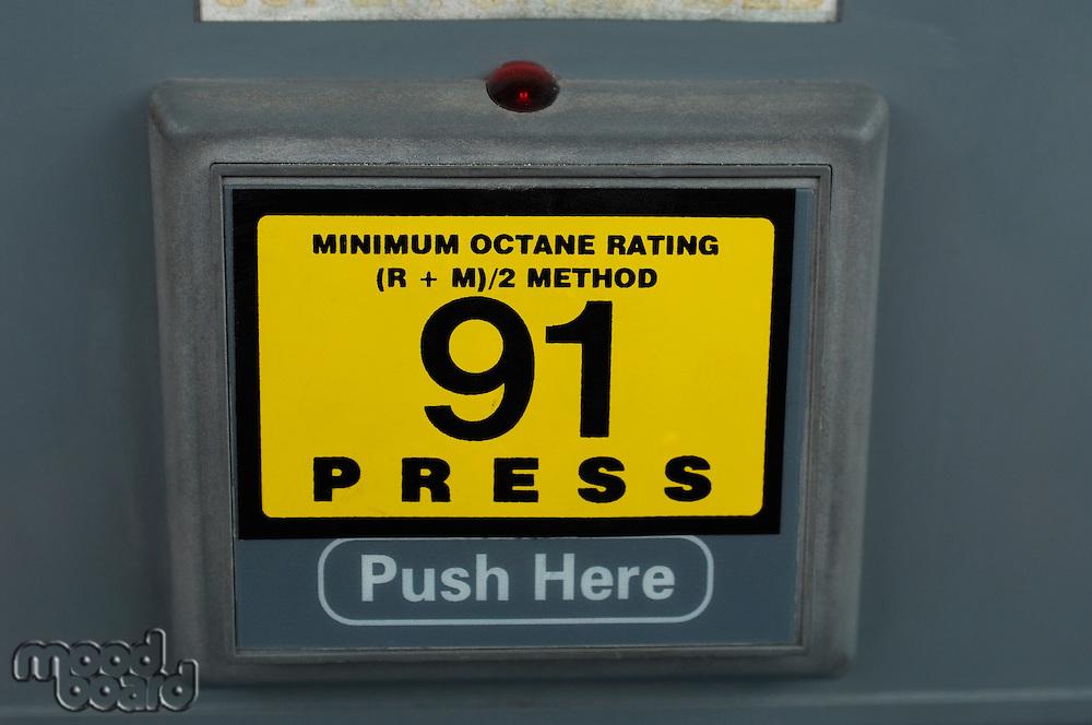 Button on gas pump
