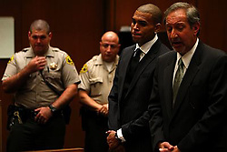 Aug 25, 2009 - Los Angeles, California, USA - R&B singer Chris Brown appears for sentencing at Los Angeles Superior Court for the case in which he pleaded guilty to assaulting his pop star girlfriend Rihanna in Hancock Park after a pre-Grammy Awards party.  The proceeding is being held in Dept. 123, Criminal Courts Building ,Los Angeles on August 25, 2009.  He was sentenced to 5 years probation and more than 1400 hours of labor orientated service     (Credit Image: © Pool/ZUMA Press)