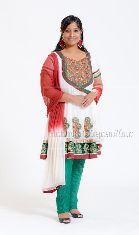 Portraits for Fiji-born Wellington model Chandra Reddy.